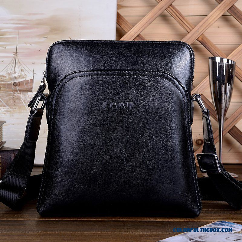 Genuine Leather Men's Bag Leather Shoulder Bag Vertical Style Of Men's Casual Business Bags