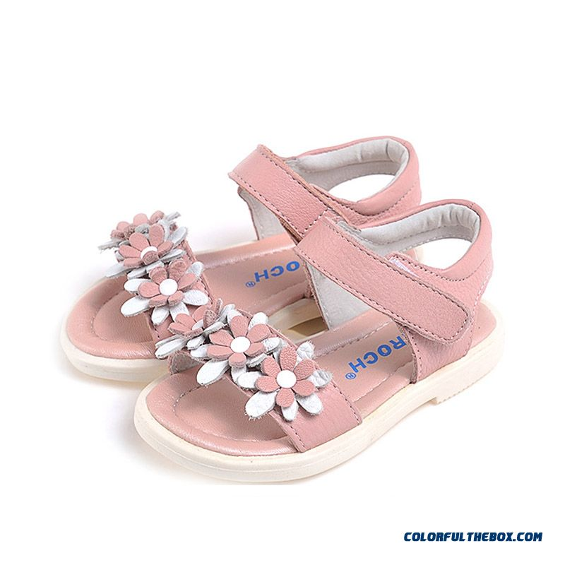 Genuine Leather Sandals Baby Kids Shoes Soft And Comfortable Summmer Sandals For Girls