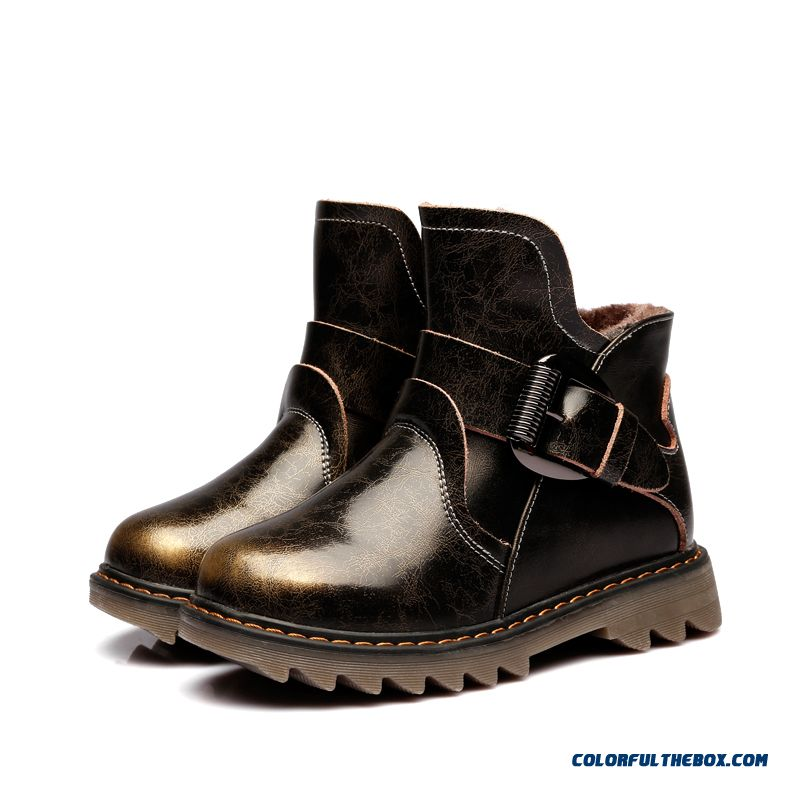 Genuine Leather Tendon At The End Warm And Comfortable Limited Buying Kids Boys Boots