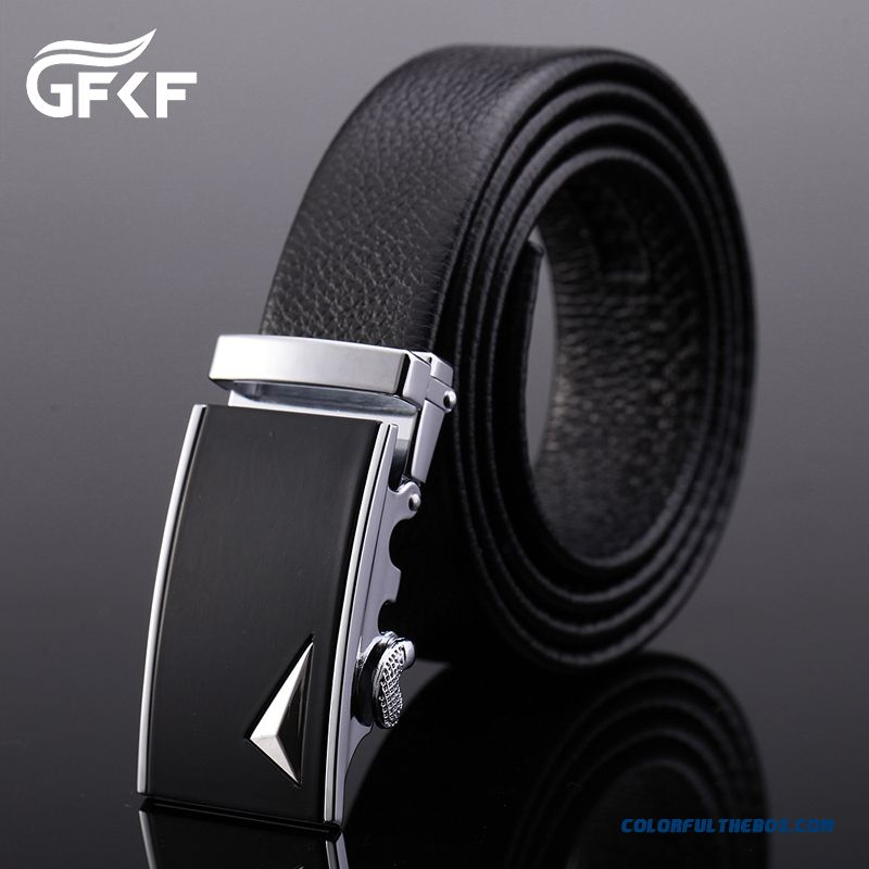 Genuine Product Successful Men Choose Accessories Leather Cowhide Leisure Automatic Buckle Belt - more images 3