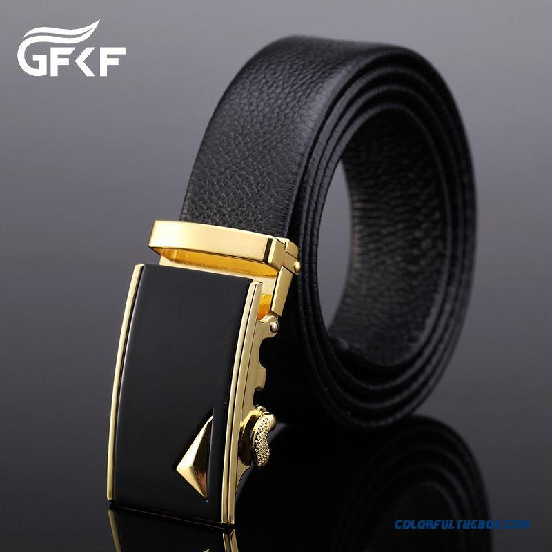 Genuine Product Successful Men Choose Accessories Leather Cowhide Leisure Automatic Buckle Belt - more images 4