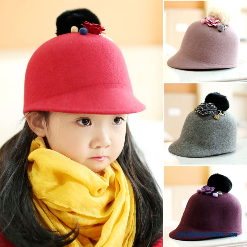 Genuine Pure Wool Hat Kids Baby Hat Peaked Cap Special Sale For Girls Hot Kids Accessories
