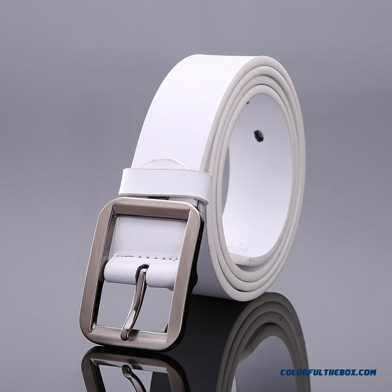 Gfkf New Men's Genuine Leather Belt Flexible And Convenient Pin Buckle Designed For Men