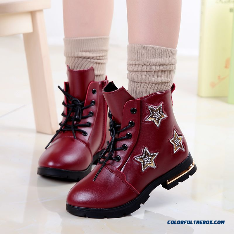 Girls Big Kids Boots Genuine Leather Boots Cotton Boots Free Shopping