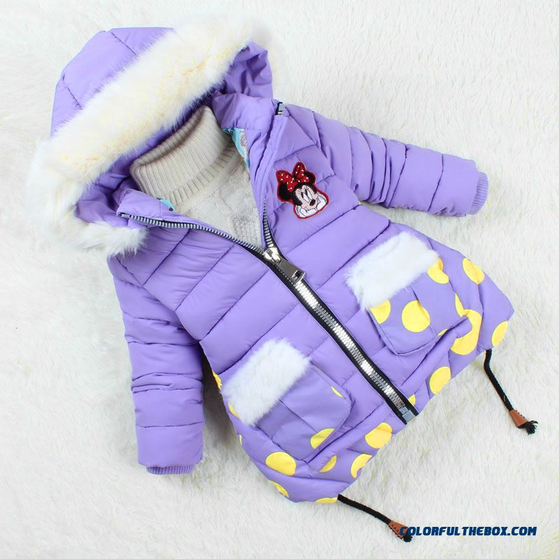 Girls Cotton Jacket Medium-long 2015 New Kids Clothing Winter Thick Padded Coat
