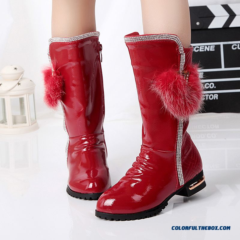 Girls Elected High-quality Fabrics Boots Genuine Leather Short Princess Shoes Kid's Shoes