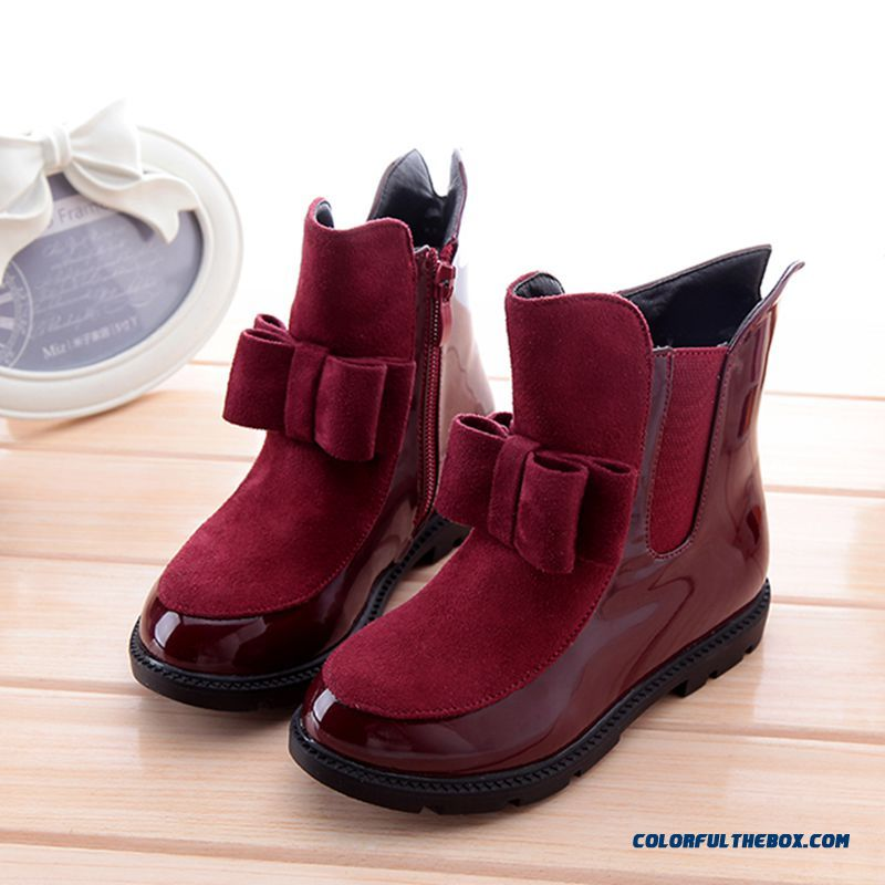 Girls Genuine Leather Shoes Martin Boots Winter Boots Kids Breathable Inner Lining Boots