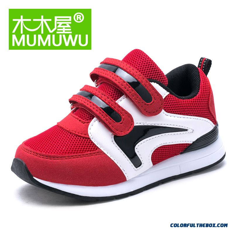 Girls Mesh Velcro Breathable Kids Sneakers Shoes Good Quality Comforable Running Shoes