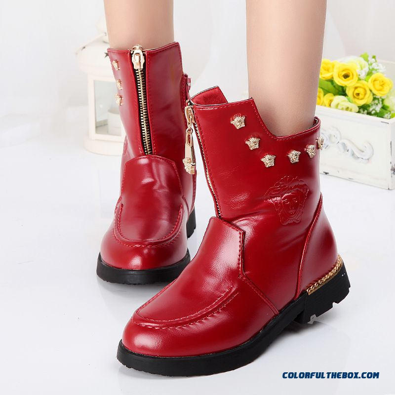 Girls Snow Boots Kids Winter Essential Shoes Free Shipping Zipper Shoes