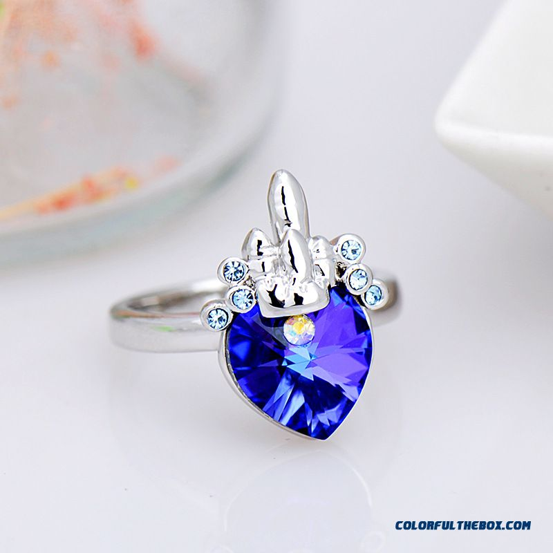 Good Selling Fashion Goods Wholesale Crystal Ring - Ocean Star Women Vogue Fine Jewelry