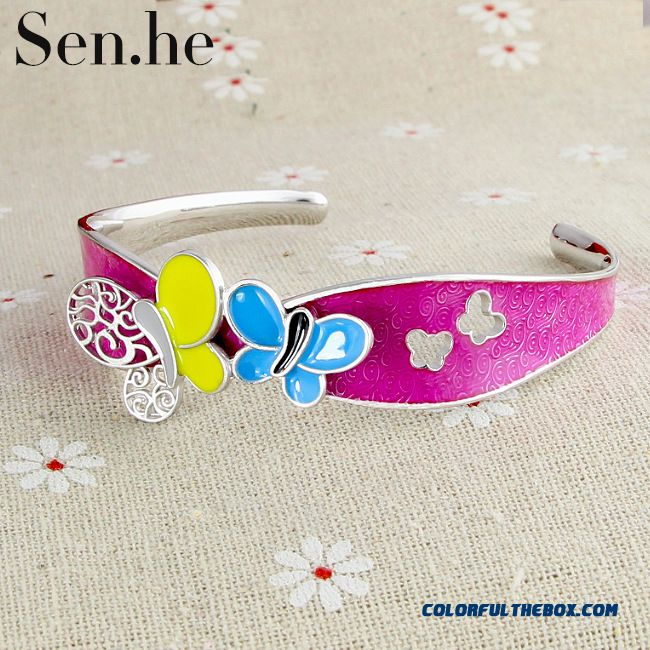 Handmade Butterfly Bracelet Ladies Bracelet Fashion Wmen Fine Jewelry Silverware