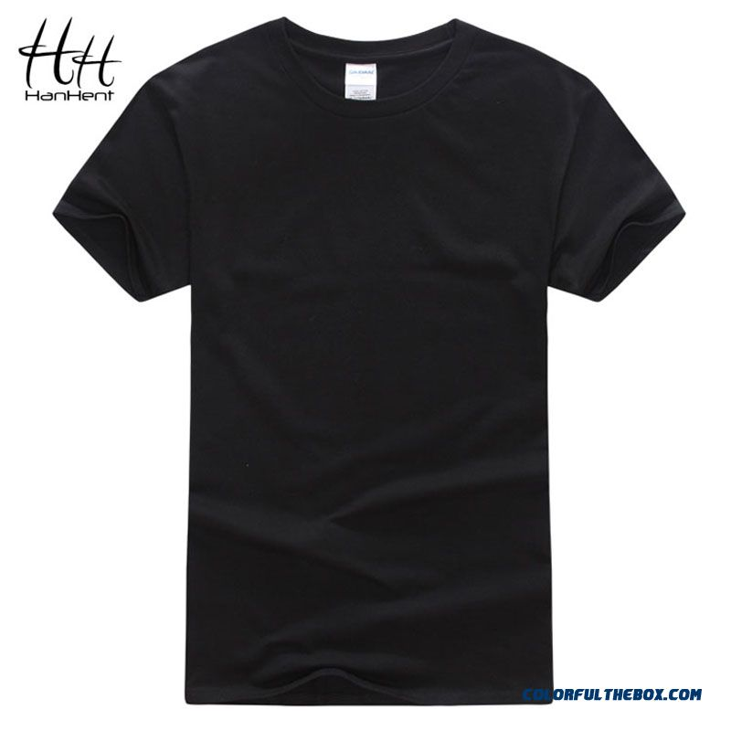 Hanhent 2016 New T-shirts Men Classical Solid Color Short Sleeve Loose Tshirt Homme Sport Suit Gym Swag T Shirt 5 Size Ta0001