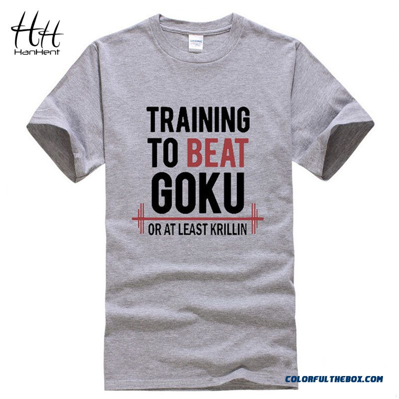 Hanhent Fashion 2015 The Dragon Ball Z T Shirt Training To Beat Goku - Krillin Cotton Short Sleeve T-shirt Tee Camiseta Clothing
