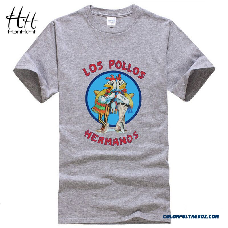 5115442a9 Cheap Hanhent Los Pollos Hermanos T Shirts Men Breaking Bad T-shirts  Sitcoms Summer Cotton Gym Clothing Swag Heisenberg Tee Shirts Sale Online
