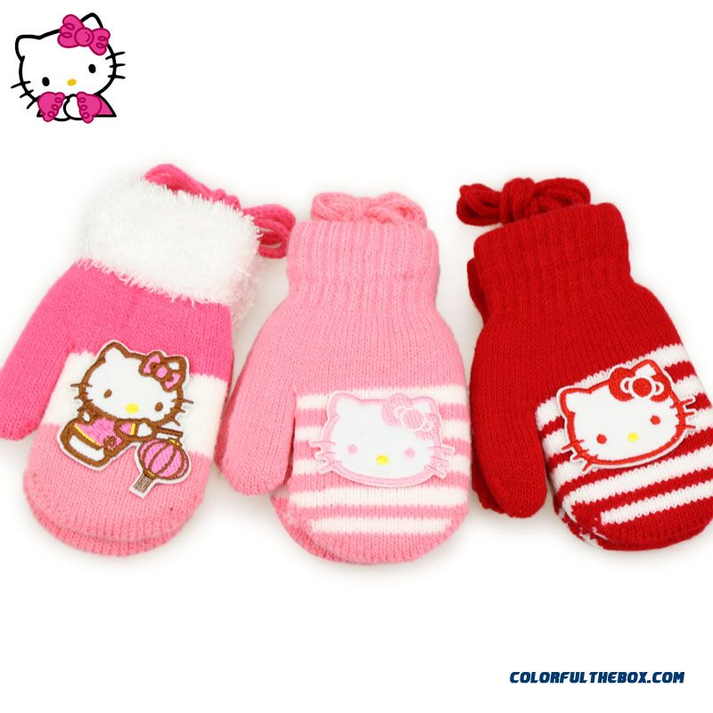 Cheap Hellokitty Kids Warm Winter Gloves Baby Kids Gloves ...