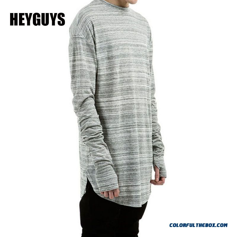 Heyguys 2016 Extend Hip Hop Street T-shirt Wholesale Fashion Brand T Shirts Men Summer Long Sleeve Oversize Design Hold Hand