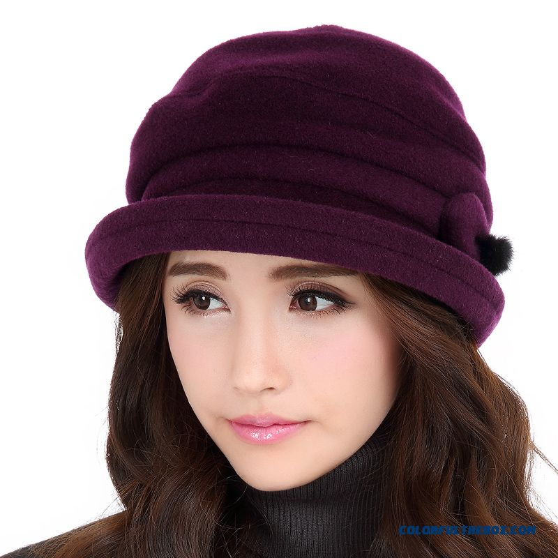 5a75267f94f Cheap High Quality Fashionable Winter Hats For Women Stylish Wool Hats  Elegant Autumn And Winter Hat 690 Sale Online