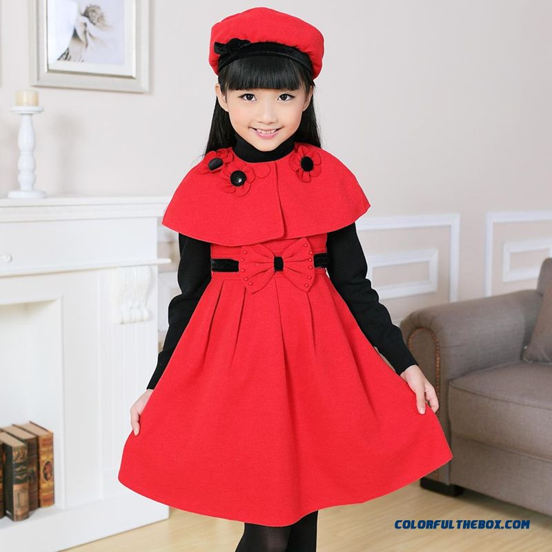 High Quality Free Shipping Kids Girls Favoritte Hot Sale In Winter Dress