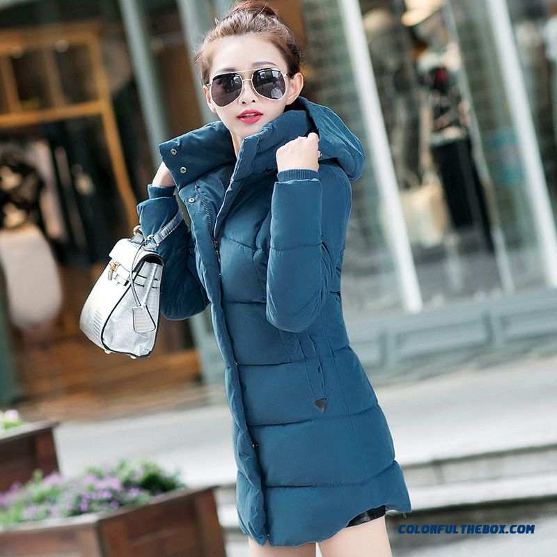 High Quality Hooded Coat Casual Clothes Medium Length Ladies Purple - more images 1