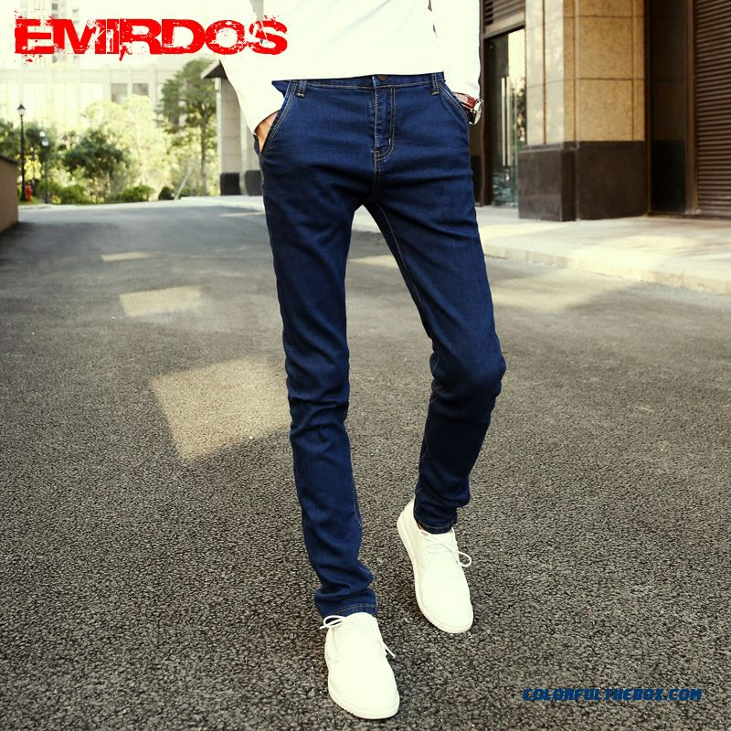 High Quality Of Slim Elastic Jeans Men Clothing Free Shipping