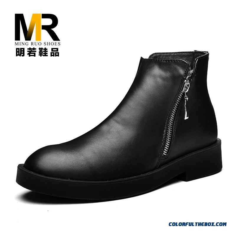 High Quality The Latest Popular Winter Men Short Side Zipper Boots