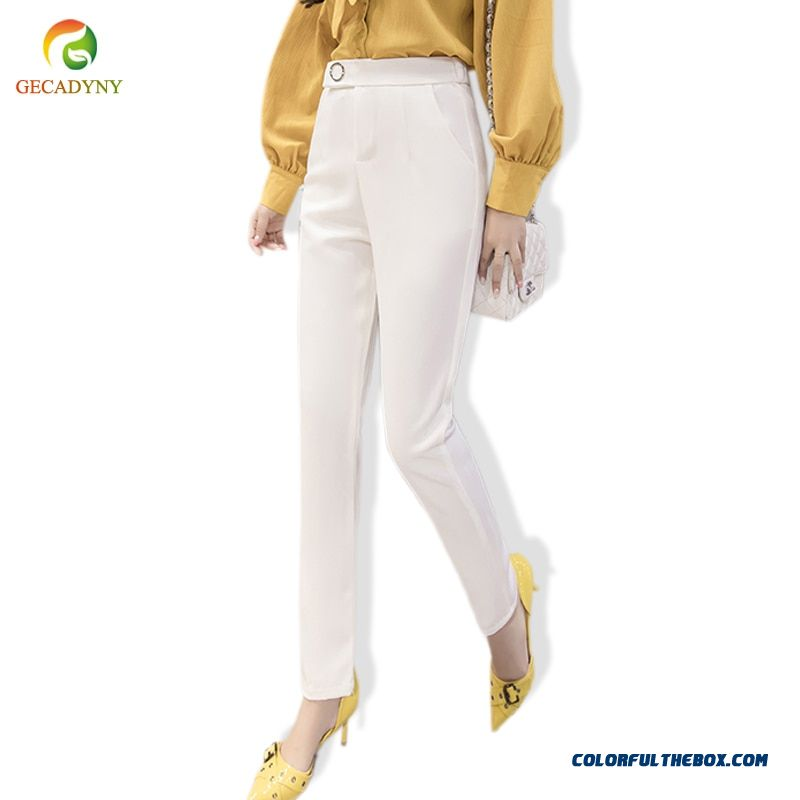 High Quality Trousers Women 2018 Spring Casual Ol Formal Harem Pants Women Elegant Office Straight Work Wear Long Suit Pants