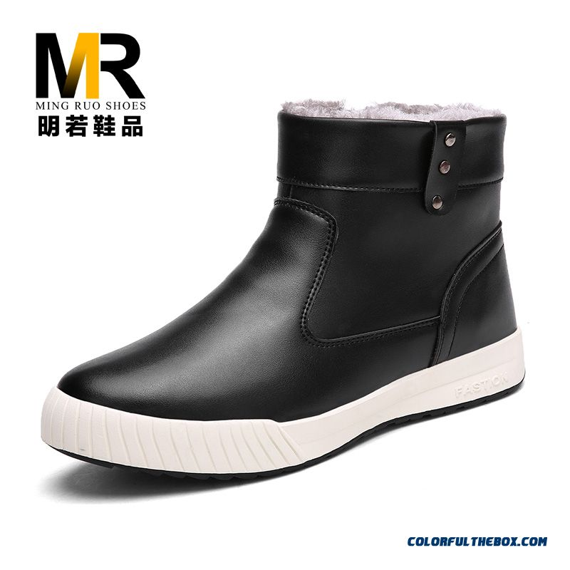 High Quality Winter Snow Boots Plus Velvet Warm Cotton Men Shoes