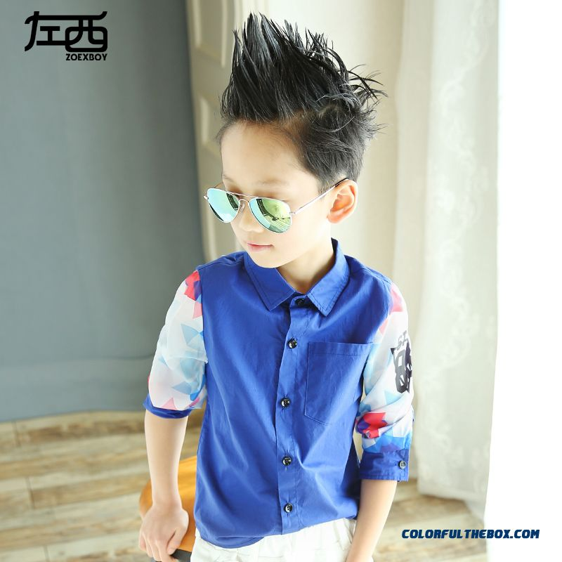 High-end Kids Long-sleeved Shirt Children Boy 2016 Spring Models Essential Clothing Fashion