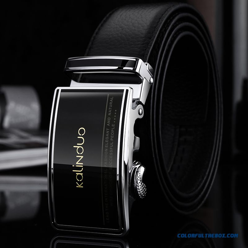 High-grade Genuine Leather Belt Men Automatic Buckle First Layer Of Leather Leisure Suit Belt