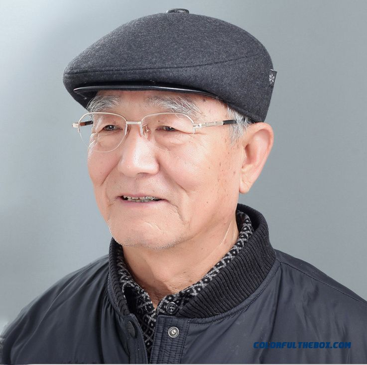 Cheap High-quality Closeout Middle-aged Men s Winter Woolen Hat With  Protect Ear Function Sale Online 8272d615a87