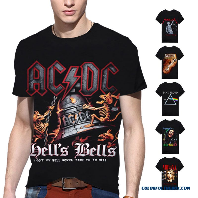 Hip Hop Band Rock Shirts T Shirt Print 3d Men T-shirt Cotton O Neck Blouse Dry Fit Tops Man Tee Camisetas Hombre Swag Clothes A6