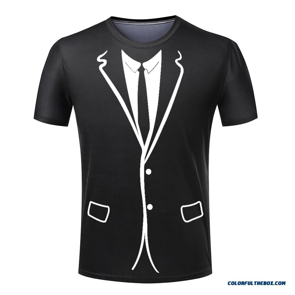 Hot Cheap Men T-shirt Tuxedo T Shirts 3d Print Funny Top Tees Short Sleeve Camisetas Summer Tshirt Plus Size S-4xl