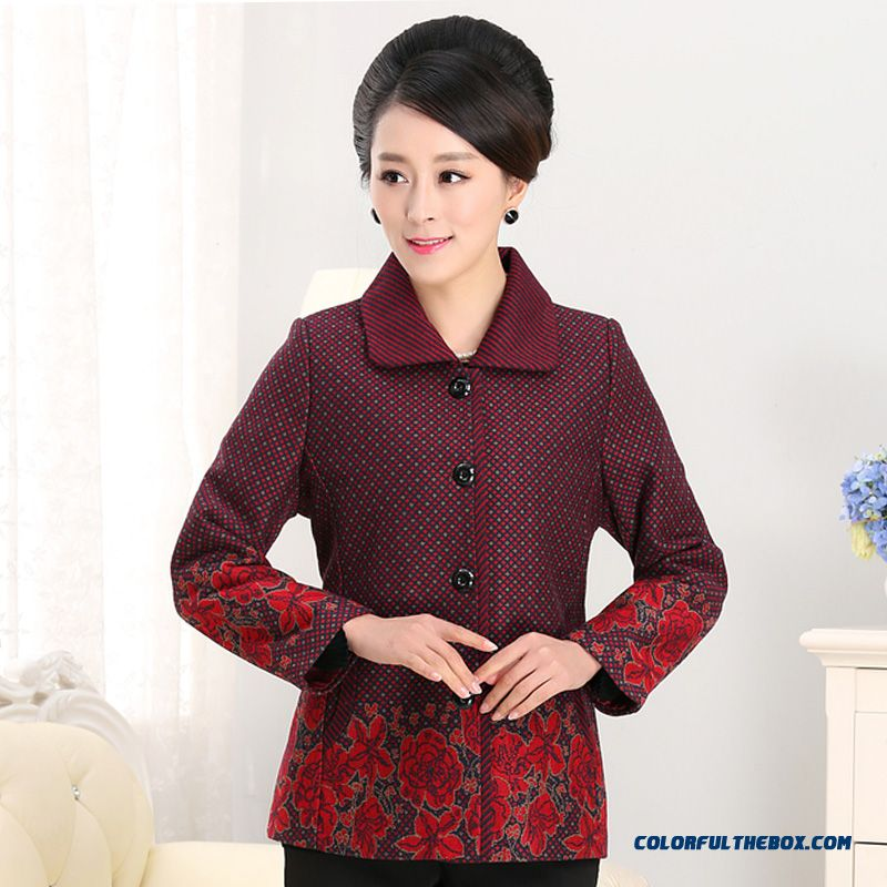 Hot Sale!!! Counter Genuine Women Mother Clothing Short Woolen Coats Spring