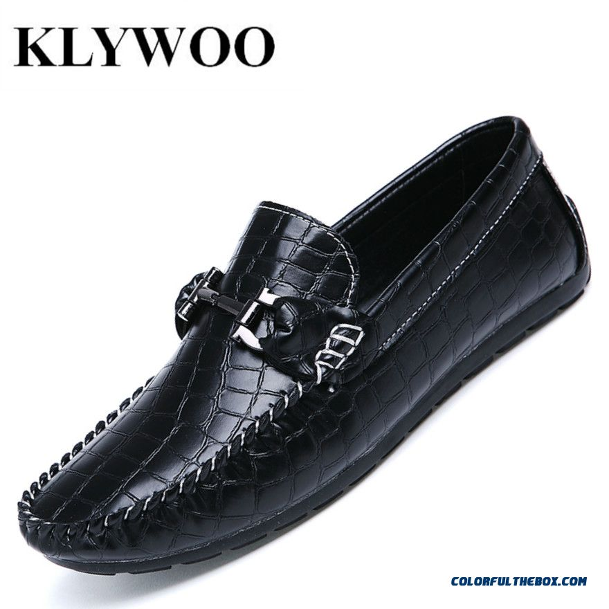 Hot Sale Men Casual Leather Loafers Breathable Spring Blue Leather Driving Moccasins Slip On Men Loafers Flats Shoes