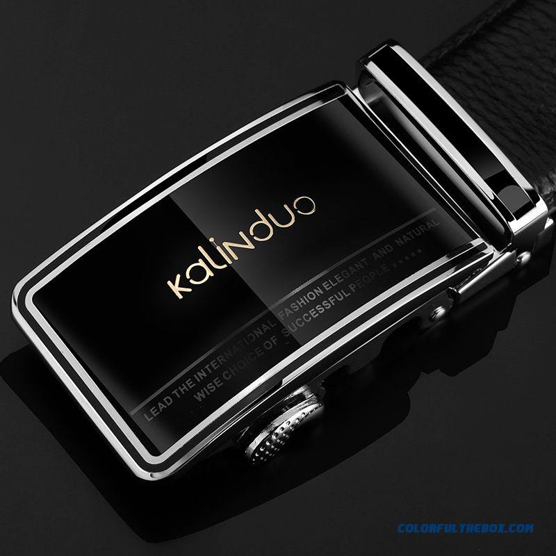 Hot Sale!!! Upscale Genuine Leather Belt Men Automatic Buckle Leisure Suit Belt