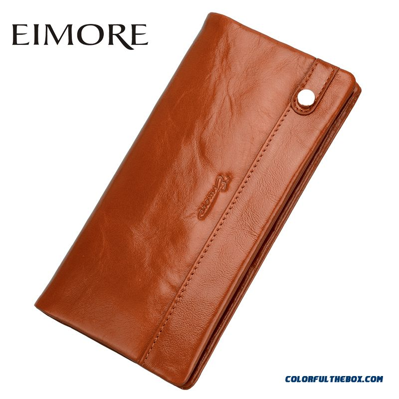 Hot Sale Women Long Section Of Two-fold Leather Wallet Soft Wallets Thin Purse Bags