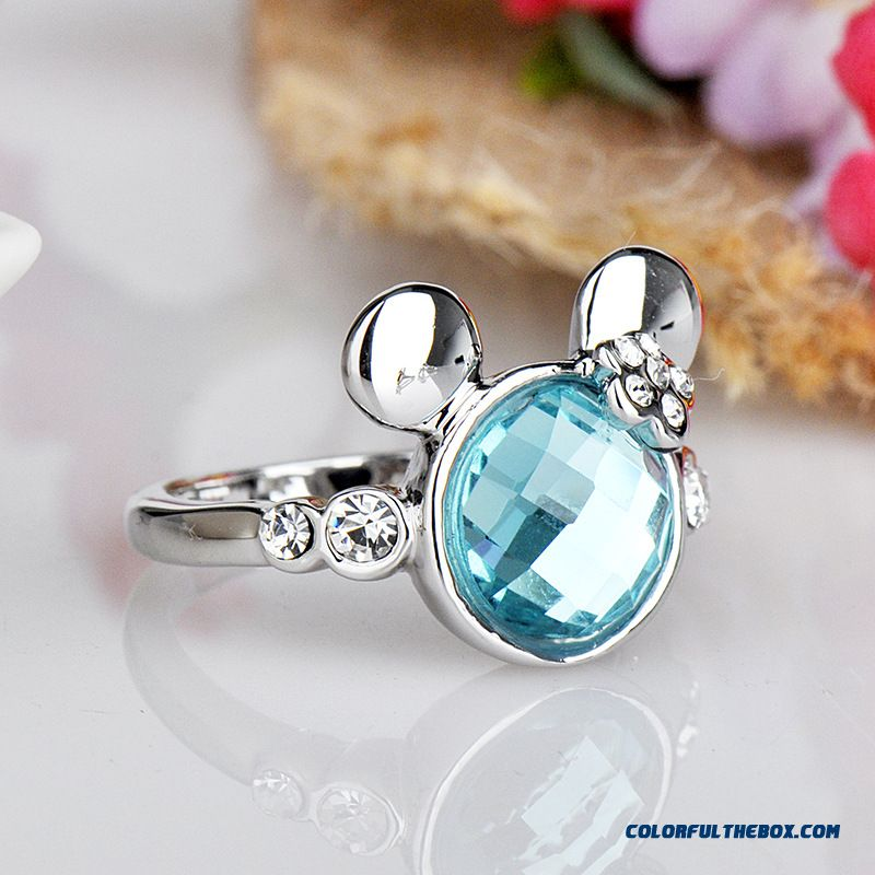 Hot Sale Young Girls Women Fine Jewelry Popular Elements Crystal Ring Quality Assurance