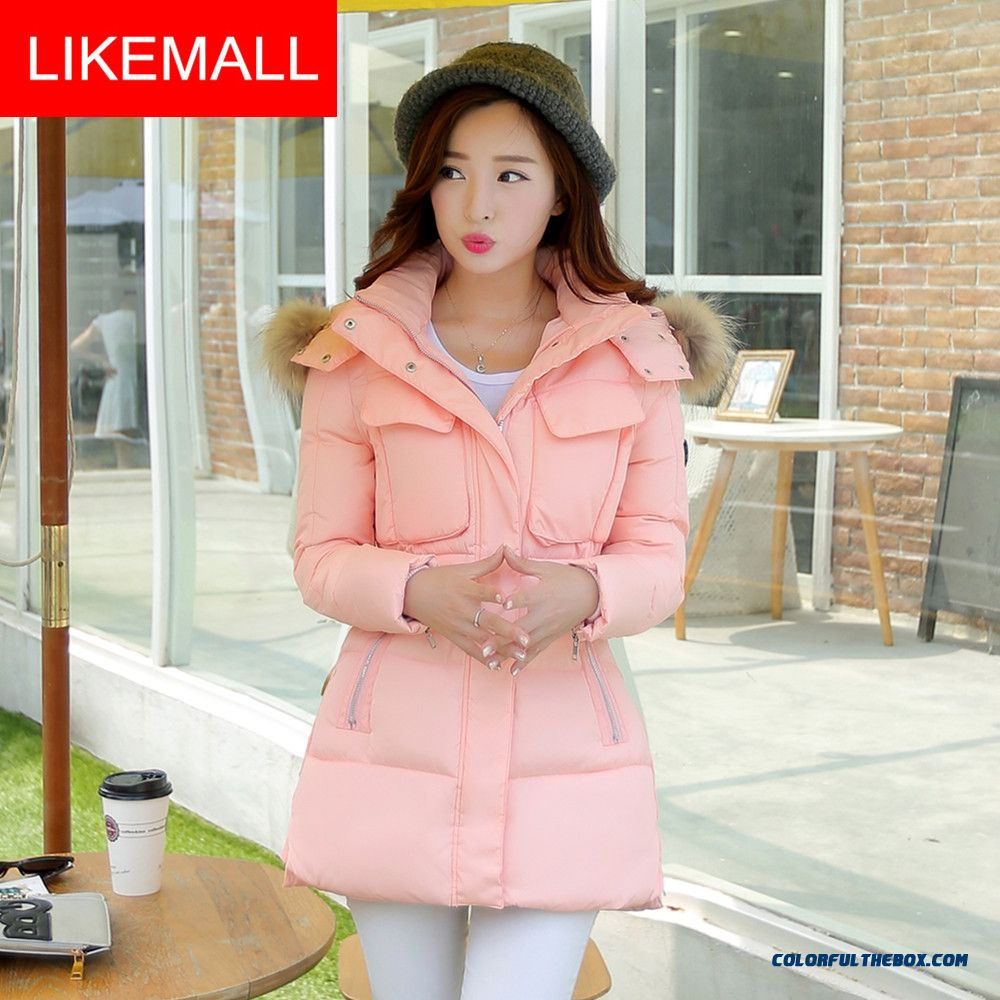 Hot Selling Fashion Winter Women Hooded Coats Loose Thicken Ovo Collar Medium Style