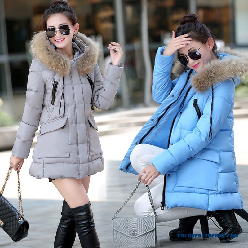 Hot Selling Women Wear Coats Large Sexy Vogue Slim Warm Blue Lomg