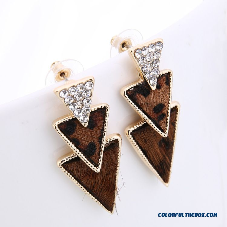 Hypoallergenic Earrings Factory Direct Classic Triangle Horse Hair Stud Earrings Jewelry For Women