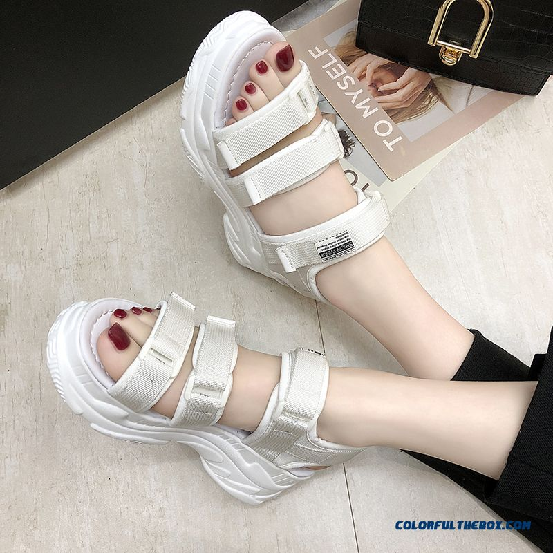 Hzxinlive Gladiator Platform Women's Sandals 2019 Summer Fashion Women Chunky Beach Sandal Denim Comfortable Sandalias Mujer