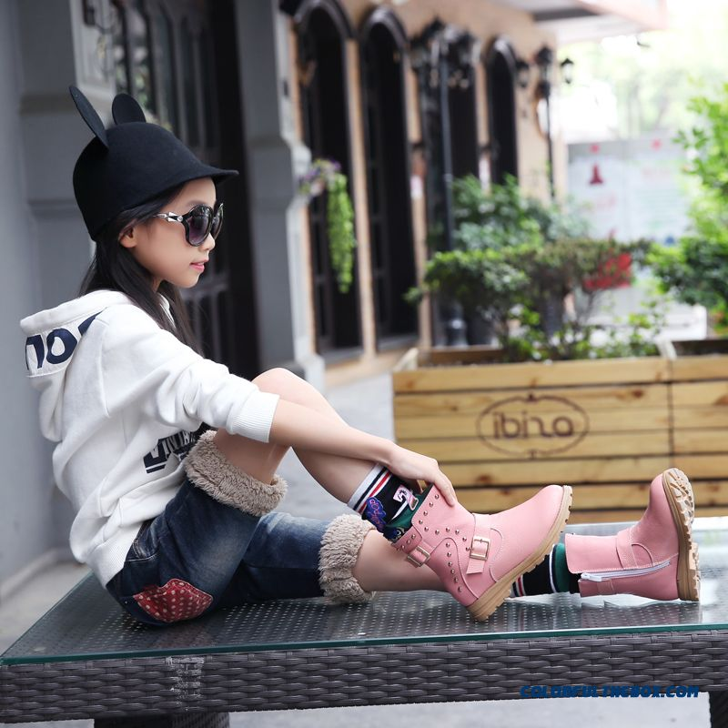 Imported High-grade Leather Made Low Tube Boots Girls Kids Shoes