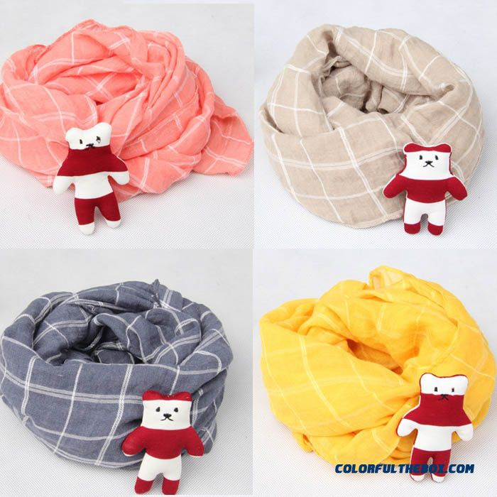 Infant Plaid Neck Scarves Wholesale Low Price High Quality Of Boy Lattice Scarves Under 12 Years Accessories