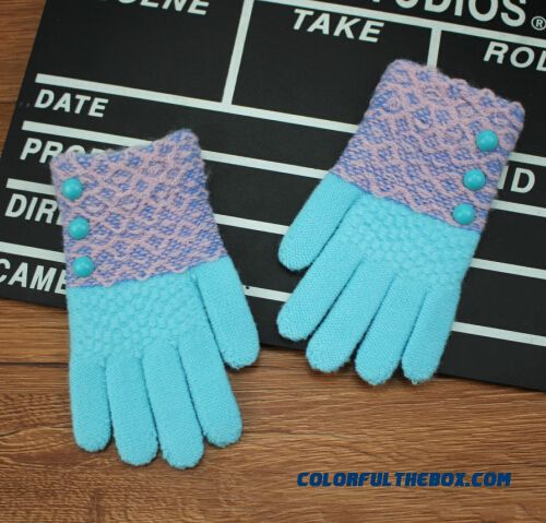 Infants And Young Children Gloves Students Knit Wool Gloves Winter Fingers Mittens Girls Kids Accessories