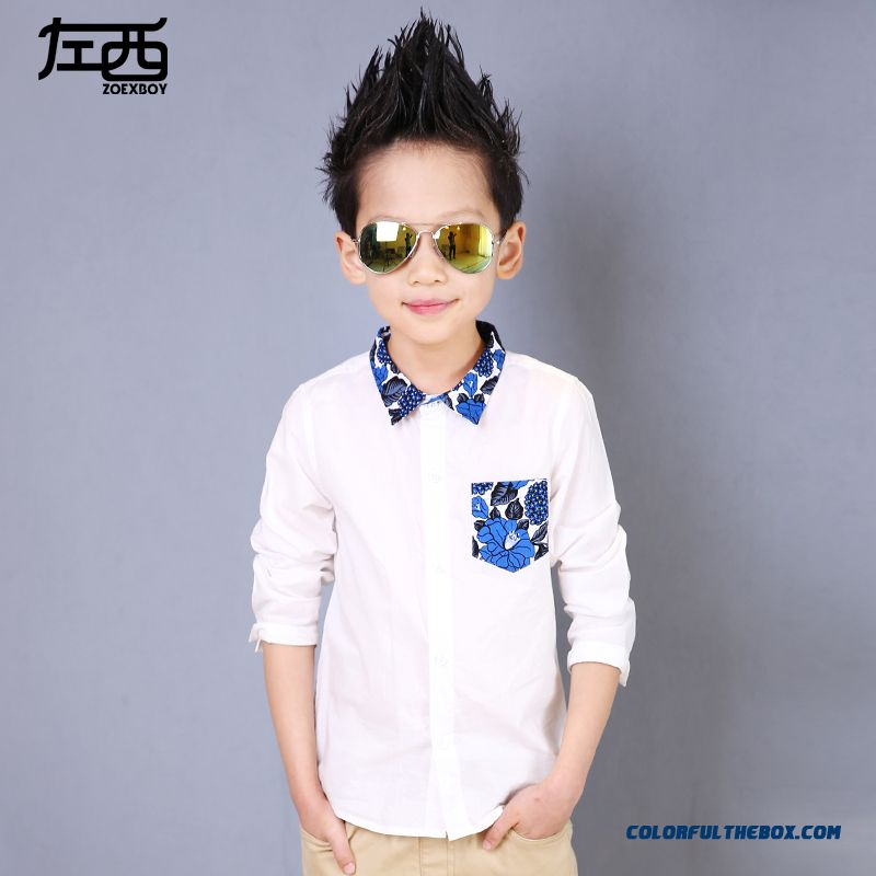 Innovative Fashion Floral Laple Boys' Shirts Blouse Kids Clothibg Free Shipping