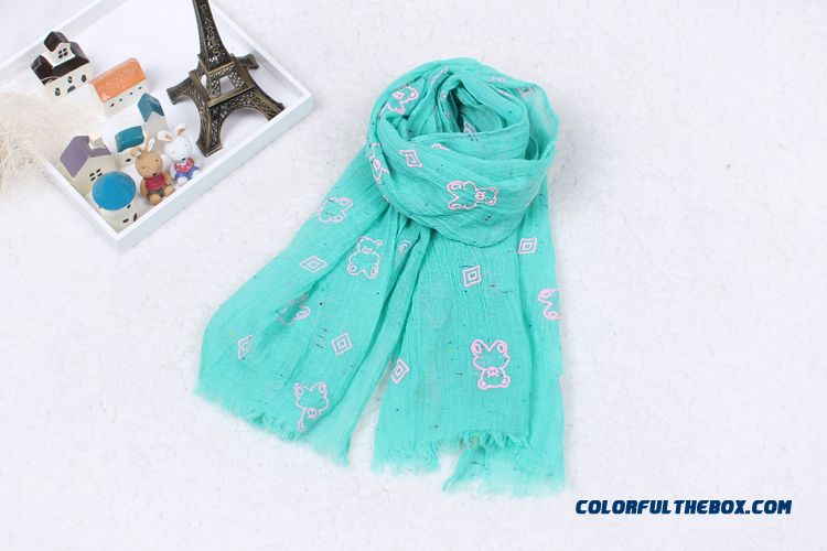 Kids Bear Soft Of Cotton Yarn Scarves Babies Boys Pure Cotton All-match Pretty Scarf Accessories