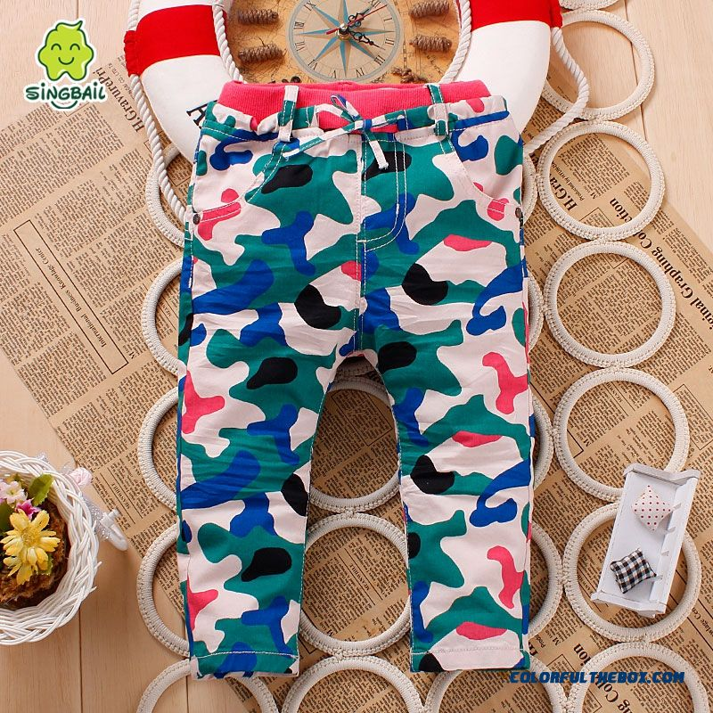 Kids Camouflage Pants 0-1-2-3 Years Old Baby Fasshion Clothing Special Offer In Spring - more images 1