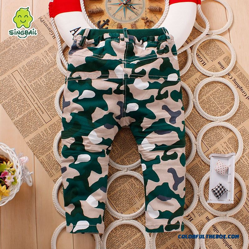 Kids Camouflage Pants 0-1-2-3 Years Old Baby Fasshion Clothing Special Offer In Spring - more images 2