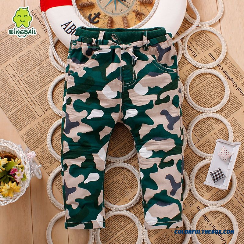 Kids Camouflage Pants 0-1-2-3 Years Old Baby Fasshion Clothing Special Offer In Spring - more images 3