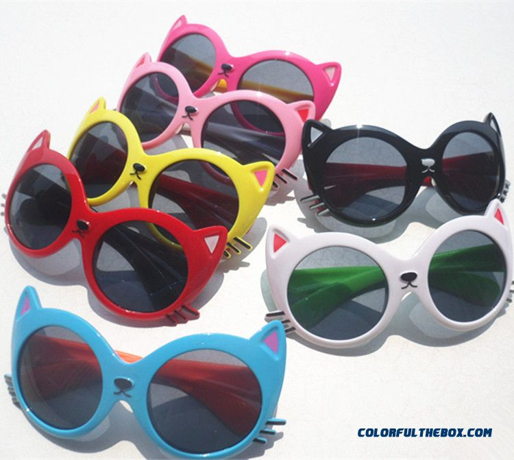 9e239d59dc Kids Cartoon Cat Children Sun-shading Sunglasses Accessories For Boys